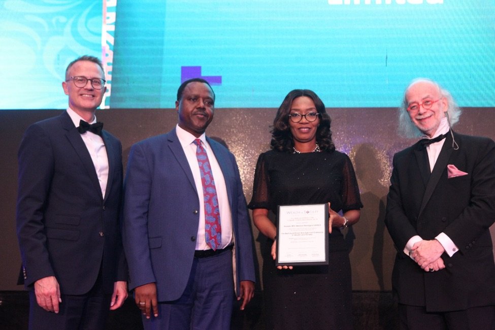 Stanbic IBTC Pension Managers Limited - Best Asset/Fund Management Company in Wealthy and Society West Africa at the Global Wealth and Society Awards West Africa 2019.